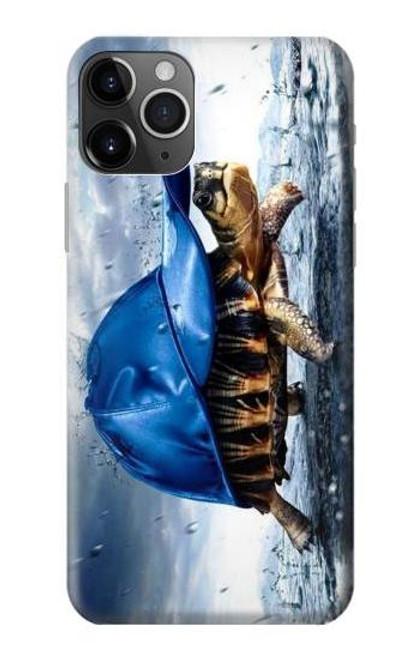 S0084 雨でかめ Turtle in the Rain iPhone 11 Pro バックケース、フリップケース・カバー