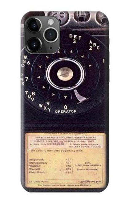 S0086 ヴィンテージ 公衆電話 Payphone Vintage iPhone 11 Pro バックケース、フリップケース・カバー