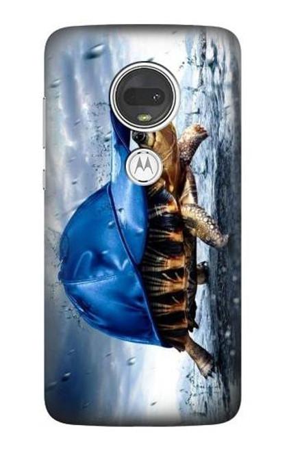 S0084 雨でかめ Turtle in the Rain Motorola Moto G7, Moto G7 Plus バックケース、フリップケース・カバー