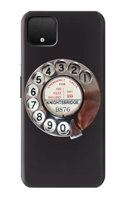 S0059 レトロなダイヤル式の電話ダイヤル Retro Rotary Phone Dial On Google Pixel 4 バックケース、フリップケース・カバー