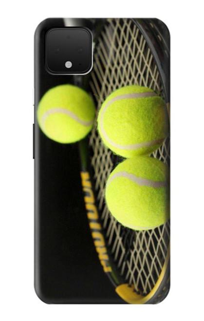 S0072 テニス Tennis Google Pixel 4 バックケース、フリップケース・カバー