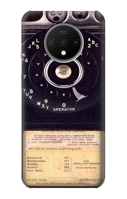 S0086 ヴィンテージ 公衆電話 Payphone Vintage OnePlus 7T バックケース、フリップケース・カバー