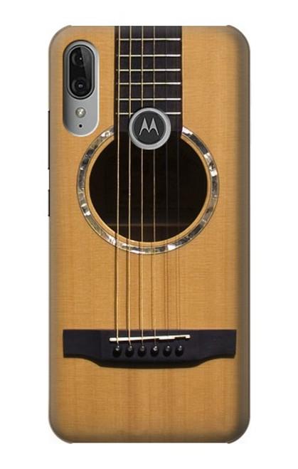 S0057 アコースティックギター Acoustic Guitar Motorola Moto E6 Plus, Moto E6s バックケース、フリップケース・カバー