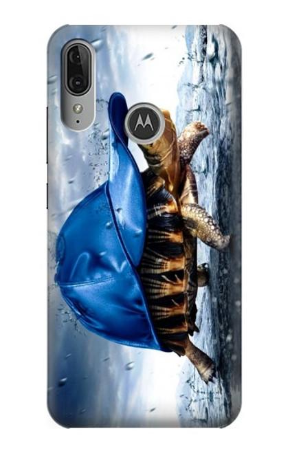 S0084 雨でかめ Turtle in the Rain Motorola Moto E6 Plus, Moto E6s バックケース、フリップケース・カバー