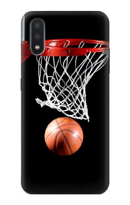 S0066 バスケットボール Basketball Samsung Galaxy A01 バックケース、フリップケース・カバー