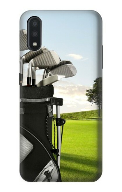 S0067 ゴルフ Golf Samsung Galaxy A01 バックケース、フリップケース・カバー