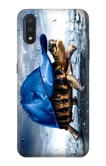 S0084 雨でかめ Turtle in the Rain Samsung Galaxy A01 バックケース、フリップケース・カバー