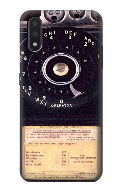 S0086 ヴィンテージ 公衆電話 Payphone Vintage Samsung Galaxy A01 バックケース、フリップケース・カバー