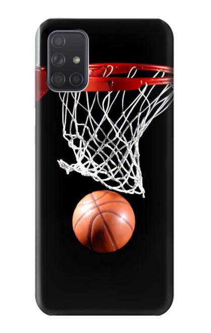 S0066 バスケットボール Basketball Samsung Galaxy A71 バックケース、フリップケース・カバー
