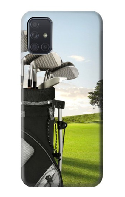 S0067 ゴルフ Golf Samsung Galaxy A71 バックケース、フリップケース・カバー