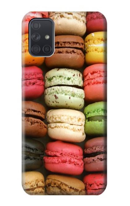 S0080 マカロン Macarons Samsung Galaxy A71 バックケース、フリップケース・カバー