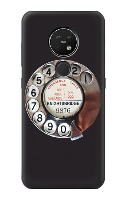 S0059 レトロなダイヤル式の電話ダイヤル Retro Rotary Phone Dial On Nokia 7.2 バックケース、フリップケース・カバー