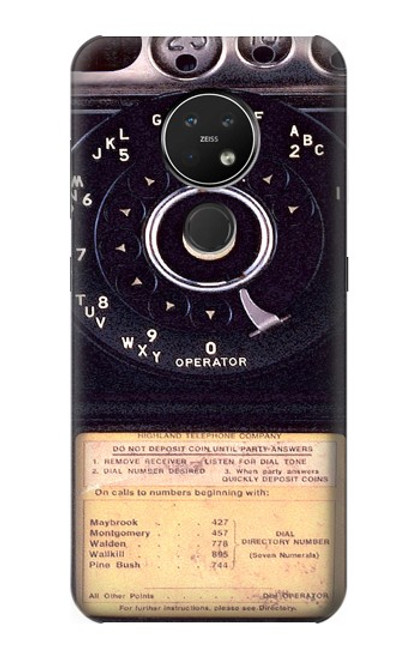 S0086 ヴィンテージ 公衆電話 Payphone Vintage Nokia 7.2 バックケース、フリップケース・カバー