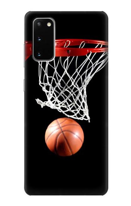 S0066 バスケットボール Basketball Samsung Galaxy S20 バックケース、フリップケース・カバー