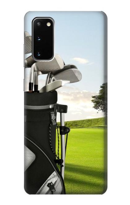 S0067 ゴルフ Golf Samsung Galaxy S20 バックケース、フリップケース・カバー