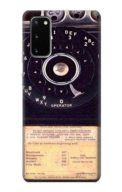 S0086 ヴィンテージ 公衆電話 Payphone Vintage Samsung Galaxy S20 バックケース、フリップケース・カバー
