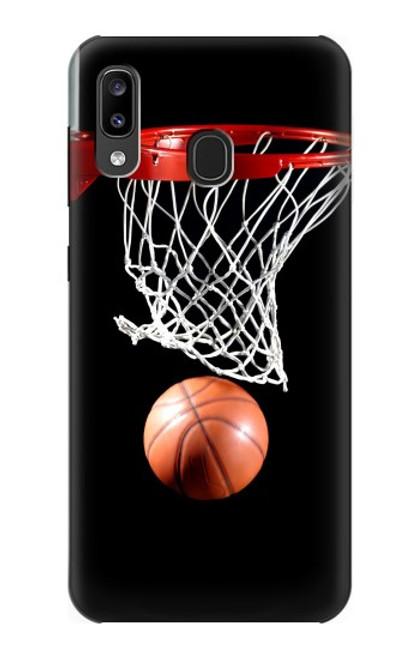S0066 バスケットボール Basketball Samsung Galaxy A20, Galaxy A30 バックケース、フリップケース・カバー