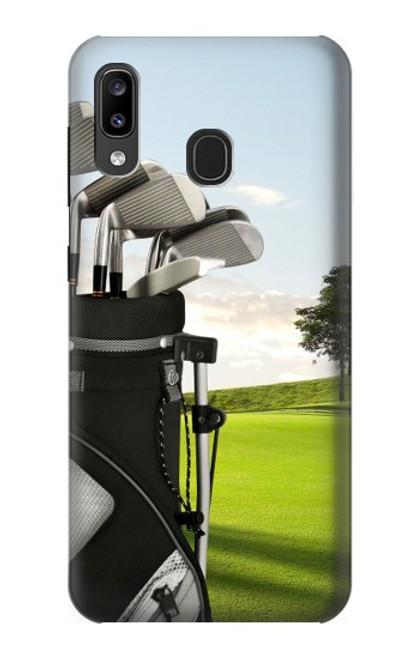 S0067 ゴルフ Golf Samsung Galaxy A20, Galaxy A30 バックケース、フリップケース・カバー