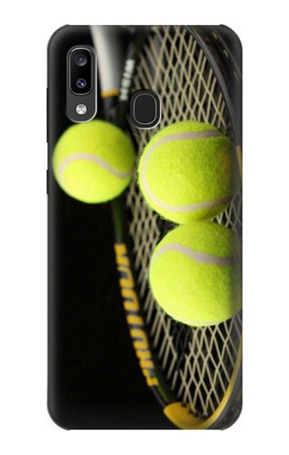 S0072 テニス Tennis Samsung Galaxy A20, Galaxy A30 バックケース、フリップケース・カバー