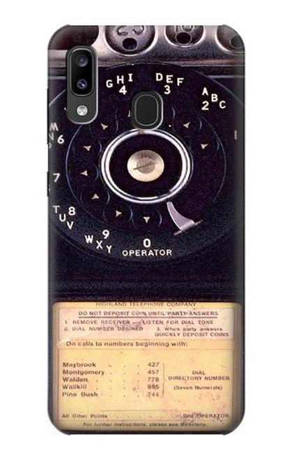 S0086 ヴィンテージ 公衆電話 Payphone Vintage Samsung Galaxy A20, Galaxy A30 バックケース、フリップケース・カバー