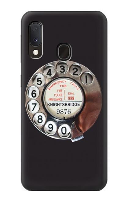 S0059 レトロなダイヤル式の電話ダイヤル Retro Rotary Phone Dial On Samsung Galaxy A20e バックケース、フリップケース・カバー