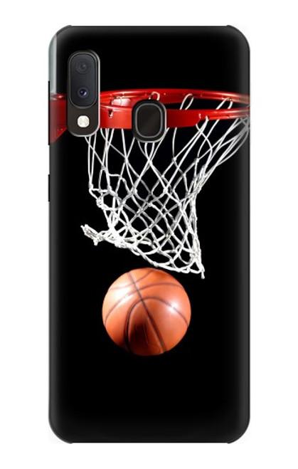 S0066 バスケットボール Basketball Samsung Galaxy A20e バックケース、フリップケース・カバー