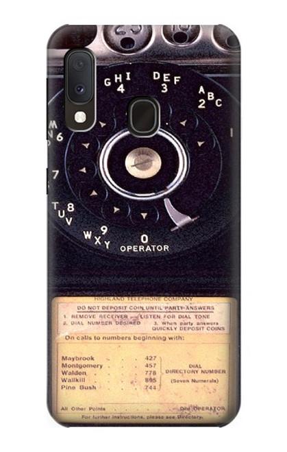 S0086 ヴィンテージ 公衆電話 Payphone Vintage Samsung Galaxy A20e バックケース、フリップケース・カバー