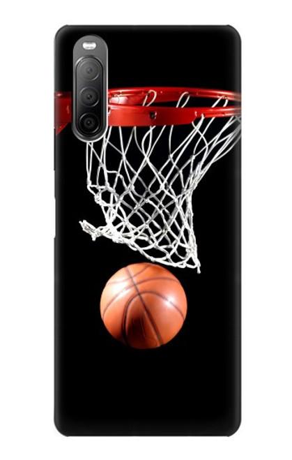 S0066 バスケットボール Basketball Sony Xperia 10 II バックケース、フリップケース・カバー