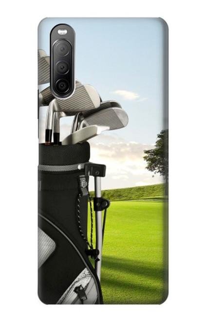 S0067 ゴルフ Golf Sony Xperia 10 II バックケース、フリップケース・カバー