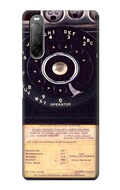 S0086 ヴィンテージ 公衆電話 Payphone Vintage Sony Xperia 10 II バックケース、フリップケース・カバー