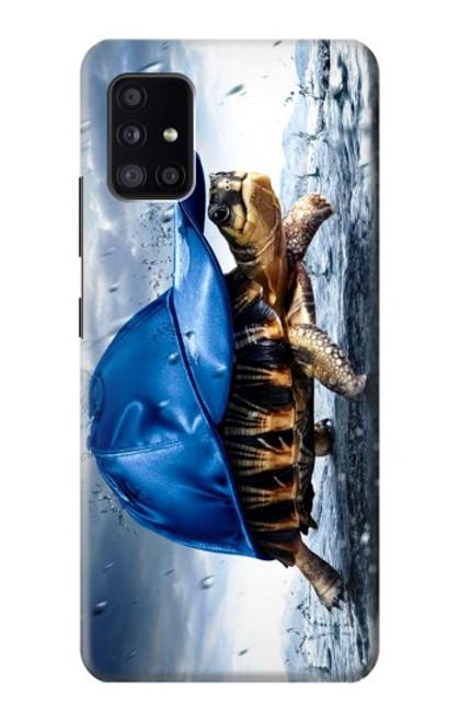 S0084 雨でかめ Turtle in the Rain Samsung Galaxy A41 バックケース、フリップケース・カバー