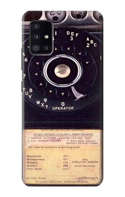 S0086 ヴィンテージ 公衆電話 Payphone Vintage Samsung Galaxy A41 バックケース、フリップケース・カバー