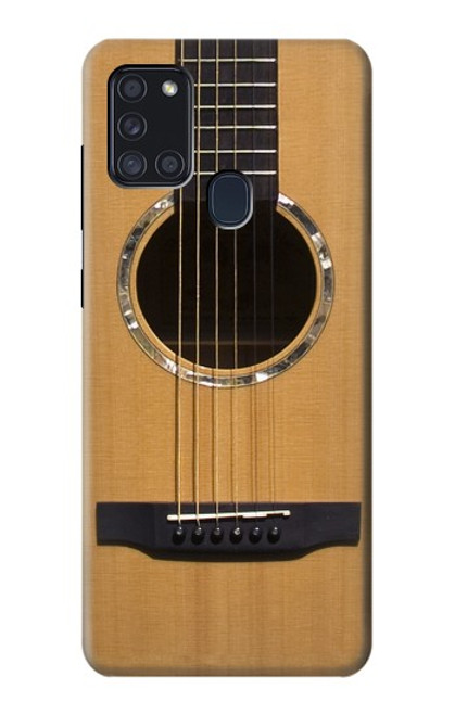 S0057 アコースティックギター Acoustic Guitar Samsung Galaxy A21s バックケース、フリップケース・カバー