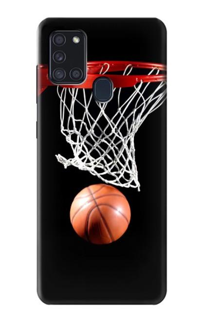S0066 バスケットボール Basketball Samsung Galaxy A21s バックケース、フリップケース・カバー