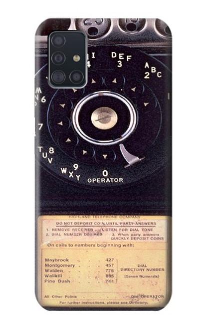 S0086 ヴィンテージ 公衆電話 Payphone Vintage Samsung Galaxy A51 5G バックケース、フリップケース・カバー