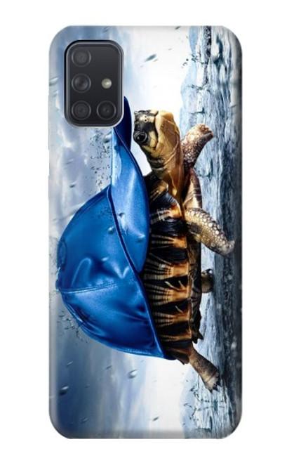 S0084 雨でかめ Turtle in the Rain Samsung Galaxy A71 5G バックケース、フリップケース・カバー