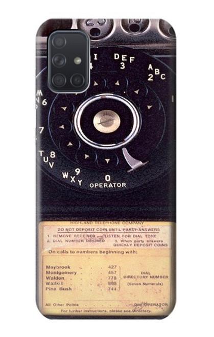 S0086 ヴィンテージ 公衆電話 Payphone Vintage Samsung Galaxy A71 5G バックケース、フリップケース・カバー