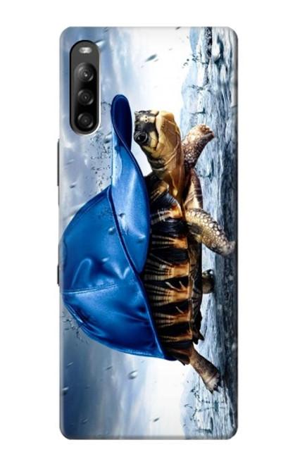 S0084 雨でかめ Turtle in the Rain Sony Xperia L4 バックケース、フリップケース・カバー