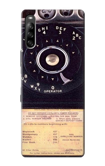 S0086 ヴィンテージ 公衆電話 Payphone Vintage Sony Xperia L4 バックケース、フリップケース・カバー