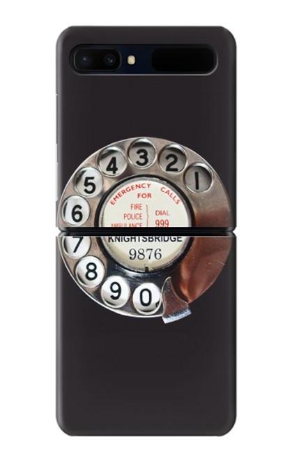 S0059 レトロなダイヤル式の電話ダイヤル Retro Rotary Phone Dial On Samsung Galaxy Z Flip 5G バックケース、フリップケース・カバー