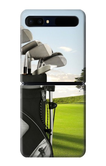 S0067 ゴルフ Golf Samsung Galaxy Z Flip 5G バックケース、フリップケース・カバー