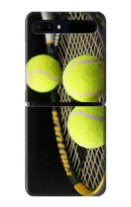 S0072 テニス Tennis Samsung Galaxy Z Flip 5G バックケース、フリップケース・カバー