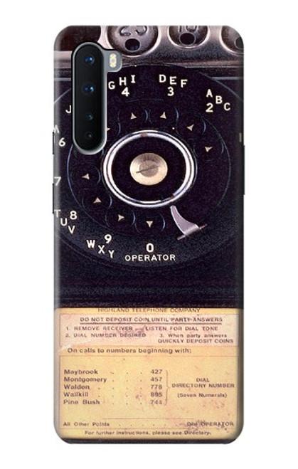 S0086 ヴィンテージ 公衆電話 Payphone Vintage OnePlus Nord バックケース、フリップケース・カバー