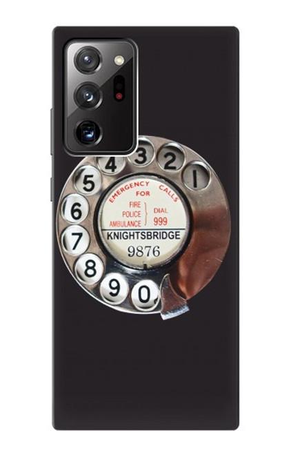 S0059 レトロなダイヤル式の電話ダイヤル Retro Rotary Phone Dial On Samsung Galaxy Note 20 Ultra, Ultra 5G バックケース、フリップケース・カバー