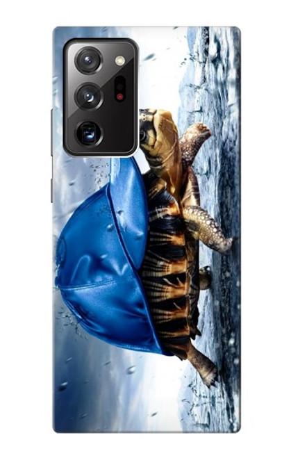 S0084 雨でかめ Turtle in the Rain Samsung Galaxy Note 20 Ultra, Ultra 5G バックケース、フリップケース・カバー
