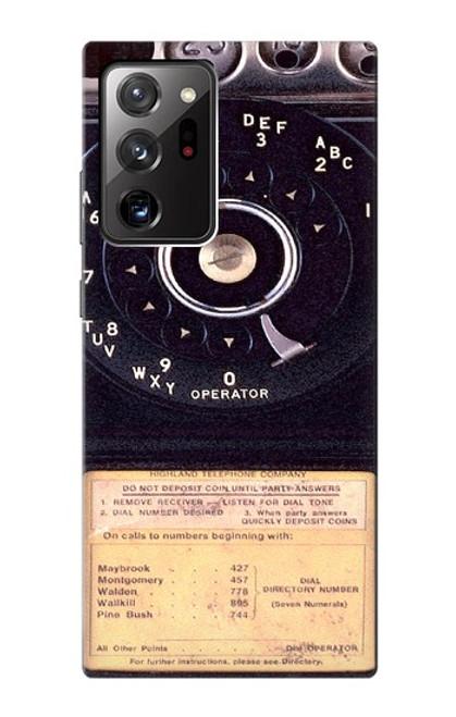 S0086 ヴィンテージ 公衆電話 Payphone Vintage Samsung Galaxy Note 20 Ultra, Ultra 5G バックケース、フリップケース・カバー