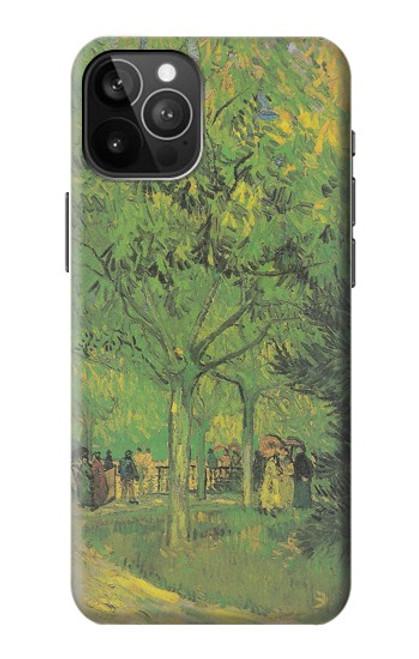 S3748 フィンセント・ファン・ゴッホ パブリックガーデンの車線 Van Gogh A Lane in a Public Garden iPhone 12 Pro Max バックケース、フリップケース・カバー