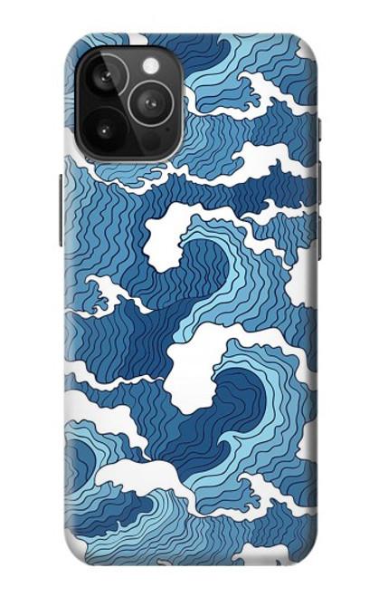 S3751 波のパターン Wave Pattern iPhone 12 Pro Max バックケース、フリップケース・カバー