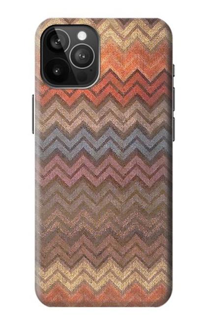 S3752 ジグザグ生地パターングラフィックプリント Zigzag Fabric Pattern Graphic Printed iPhone 12 Pro Max バックケース、フリップケース・カバー