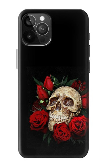 S3753 ダークゴシックゴススカルローズ Dark Gothic Goth Skull Roses iPhone 12 Pro Max バックケース、フリップケース・カバー